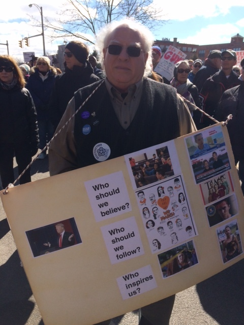 Barry Swan, one of TIAR's representatives at the March 24, 2018 Rochester March for Our Lives anti-gun violence rally.