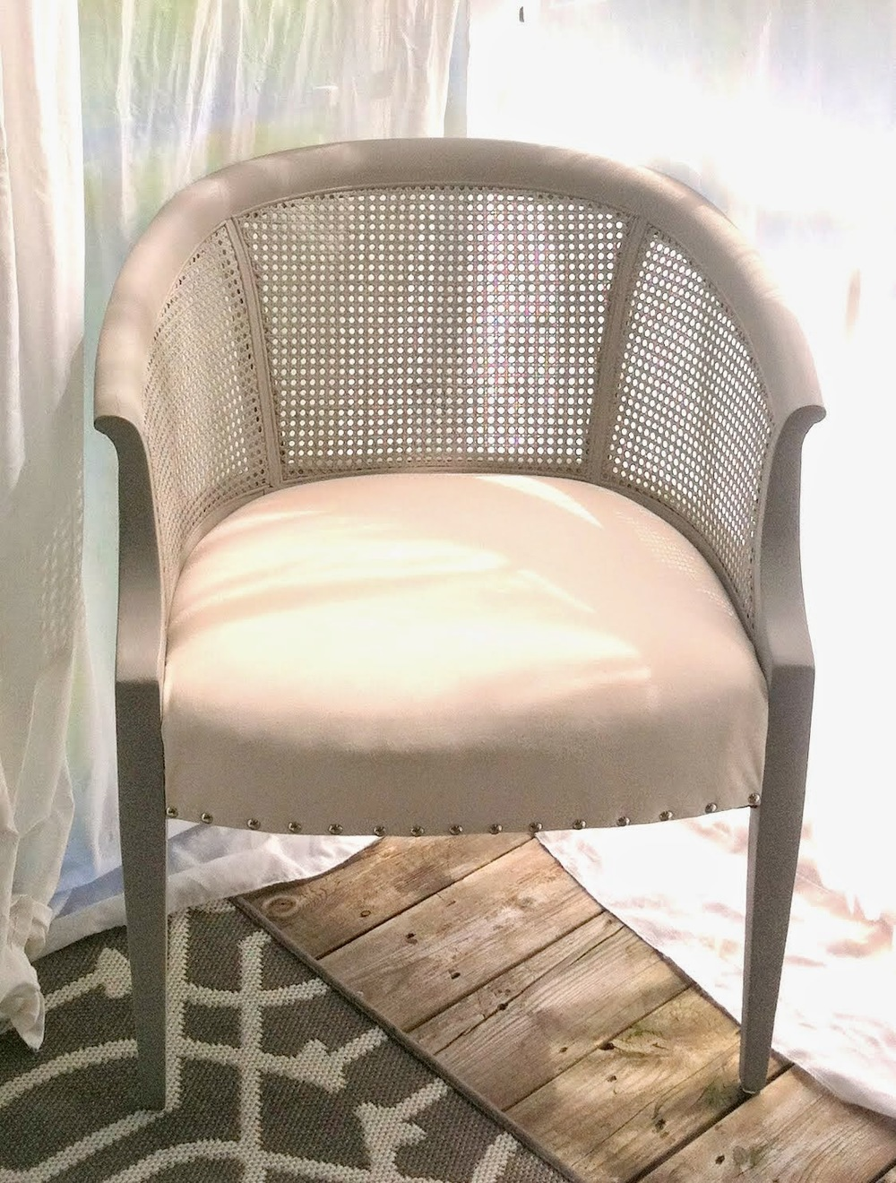 The wooden frame and cane were painted in another home-made chalk paint concoction. The original color was a flat finish Behr paint called  Fashion Gray  ... & Blog u2014 StyleMutt Home - Your Home Decor Resource For All Breeds Of Style