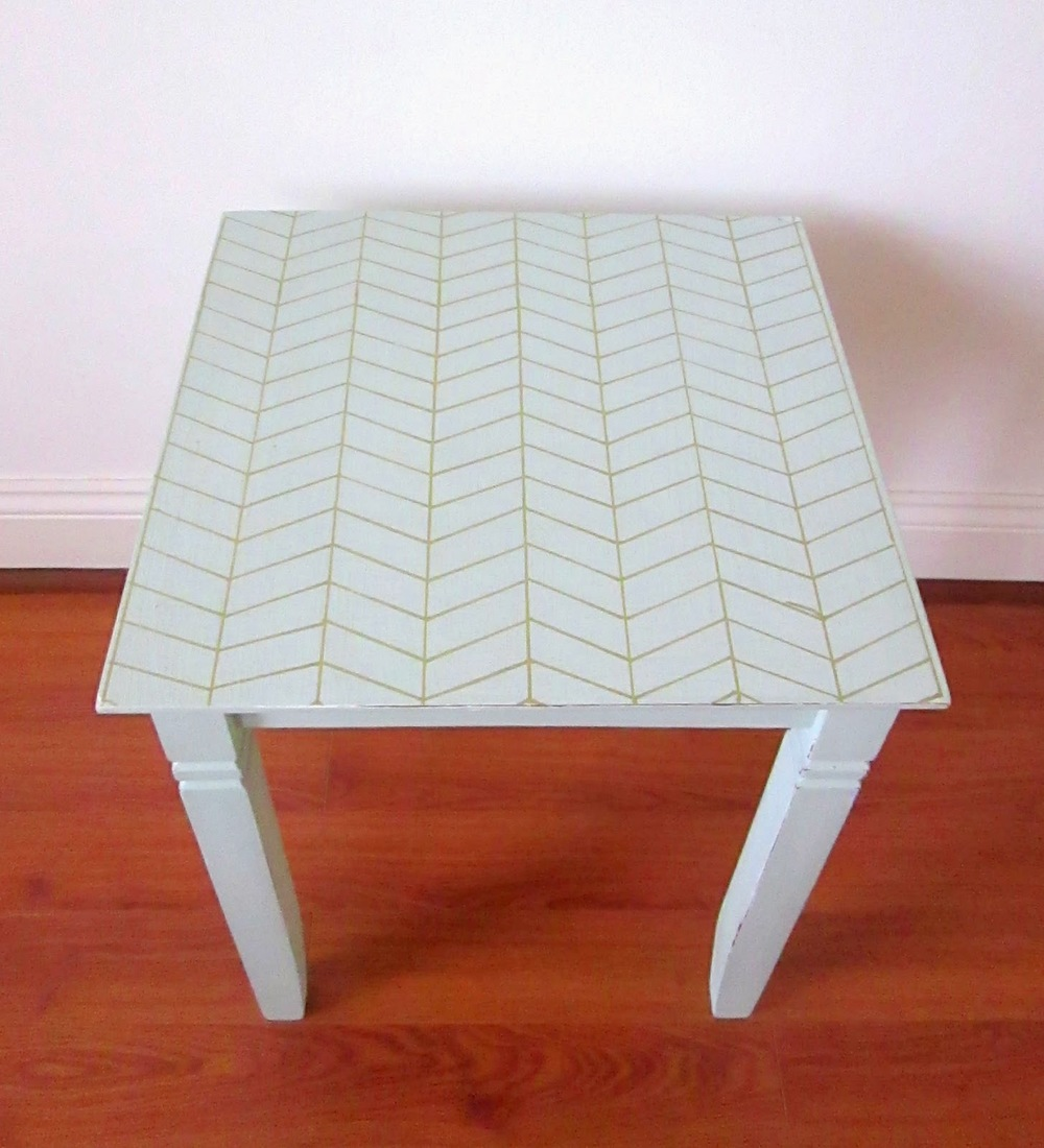 Peek-A-Week #3 {Herringbone tabletop} u2014 Style Mutt Home - Your Home Decor Resource For All ...