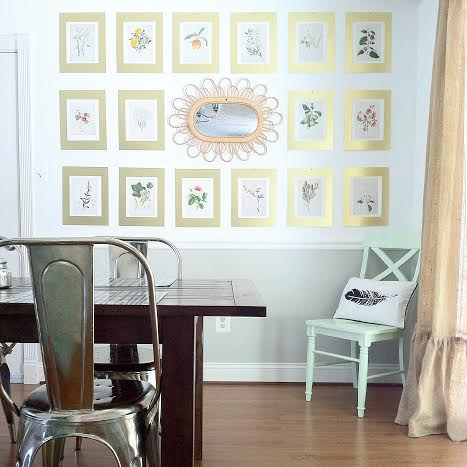 Large Botanical Gallery Wall {+ tips & tricks!} — StyleMutt Home ...