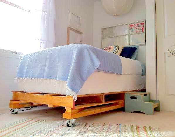 Bed Van Pallets : Pallet platform bed tutorial u stylemutt home your home decor