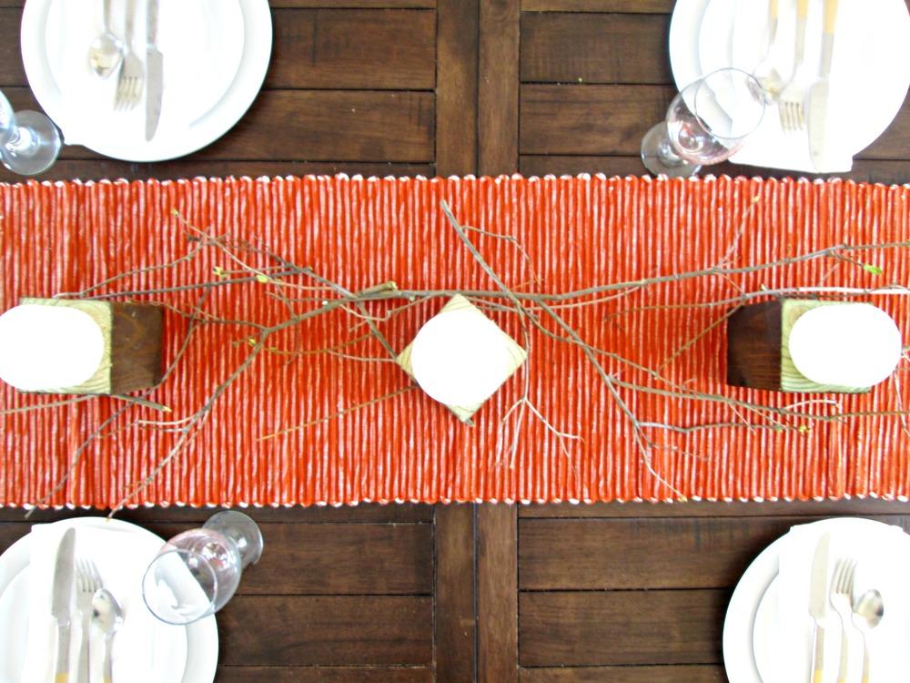 Thanksgiving Tablescapes Three Simple Designs Stylemutt Home. Satin Table  Runner Burnt Orange