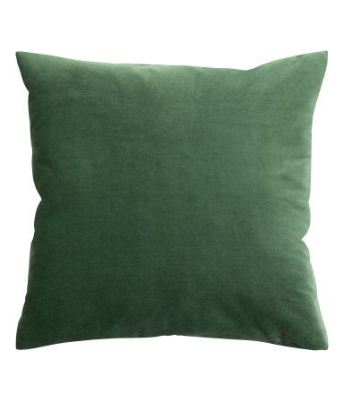 Dark Green Velvet Cushion Cover - $9.99
