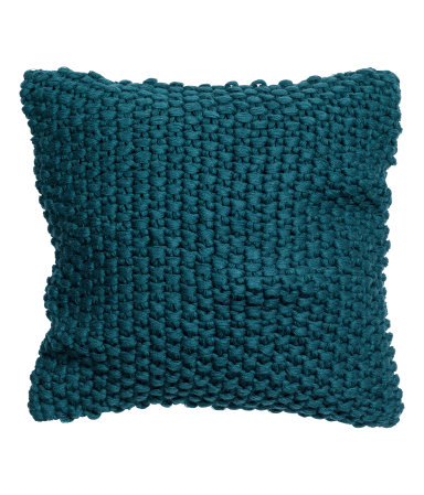 Dark Turquoise Moss-knit Cushion Cover - $24.99