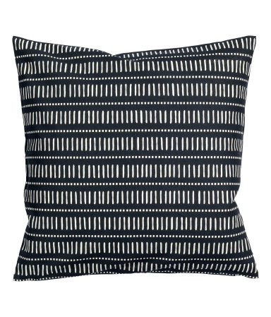 Charcoal Grey Cotton Cushion Cover - $5.99