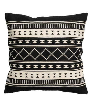 Charcoal Grey Jacquard-weave Cushion Cover - $17.99