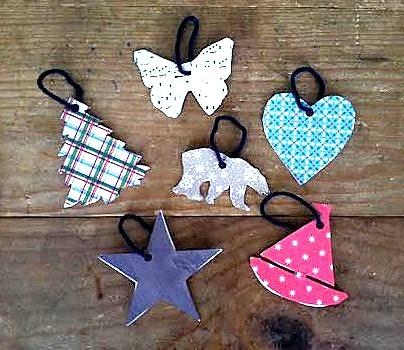Scrapbook Paper Ornaments