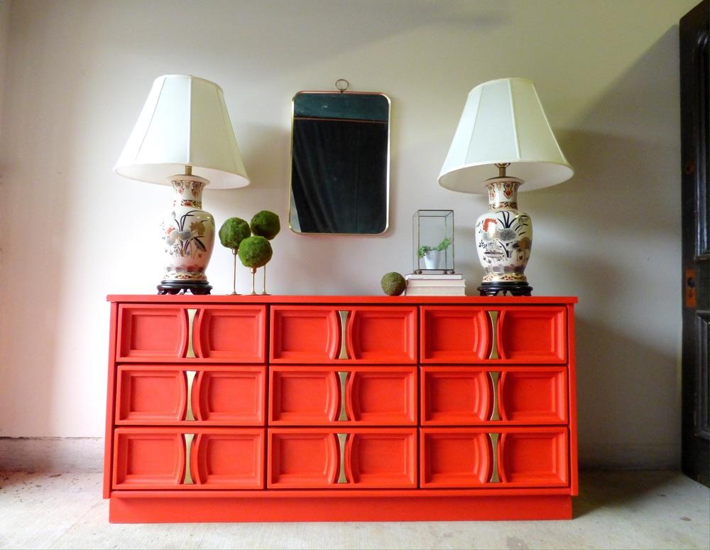 Poppy Red Dresser