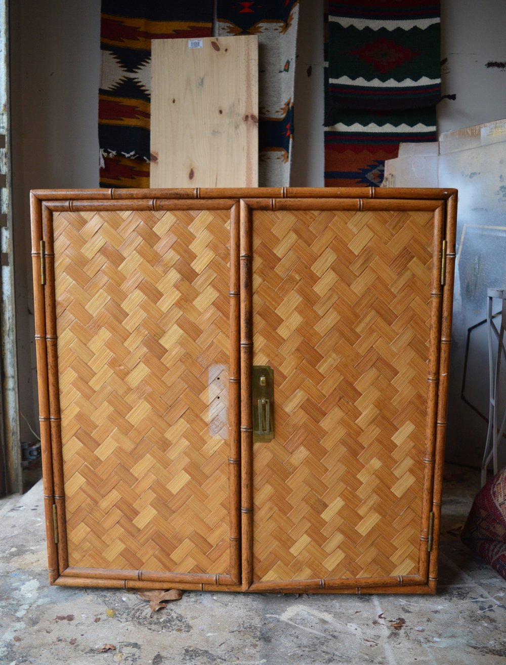 No Yarn Involved Today. ;) When I Saw This Parquet And Bamboo Cabinet I Was  So Excited To Get My Hands On It; The Piece Was In Amazing Condition, ...