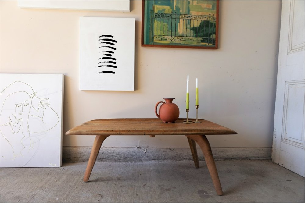 Tri Base Heywood Wakefield Coffee Table Now Available For Sale