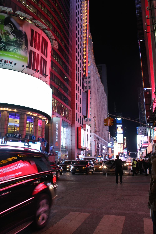 Times Square, altijd goed voor een paar fotootjes at night.