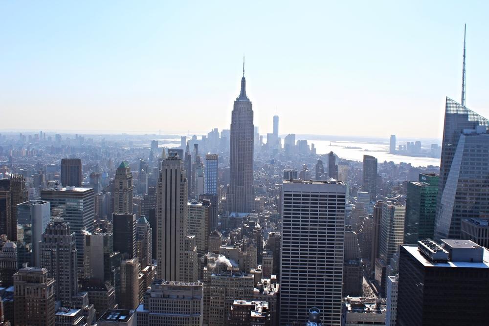 Het uitzicht vanaf The Top of the Rock. Dit blijft een van de meest mooiste plekken ter wereld.