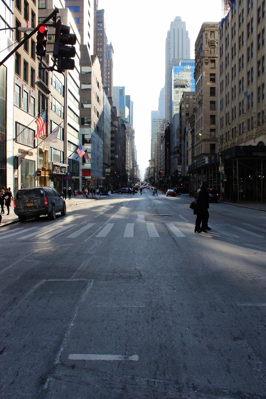 Hebben jullie de straten van Manhattan ooit zo stilgezien? Het was heerlijk rustig door de kou :)