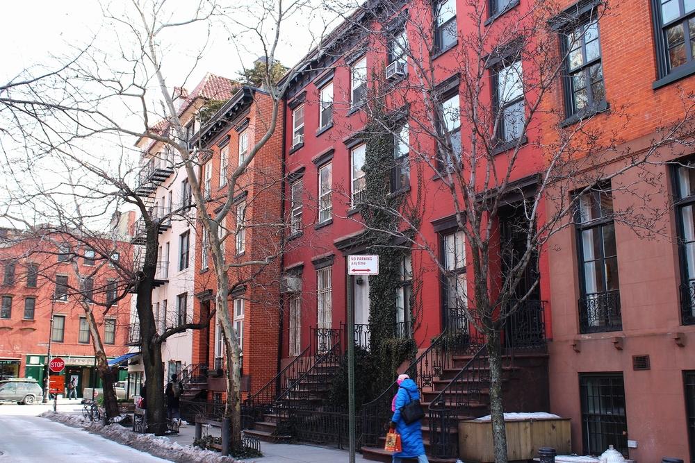 Ik heb echt duizend foto's van West Village, ik vind die huizen zo prachtig!