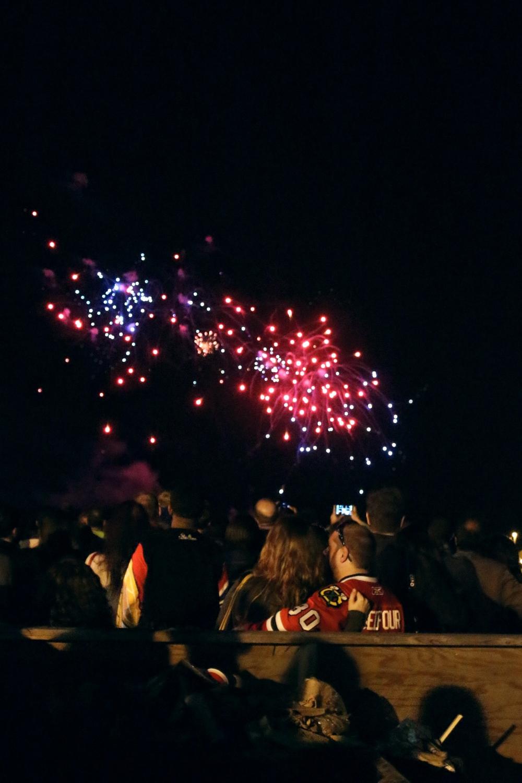 Vuurwerk op Memorial Day