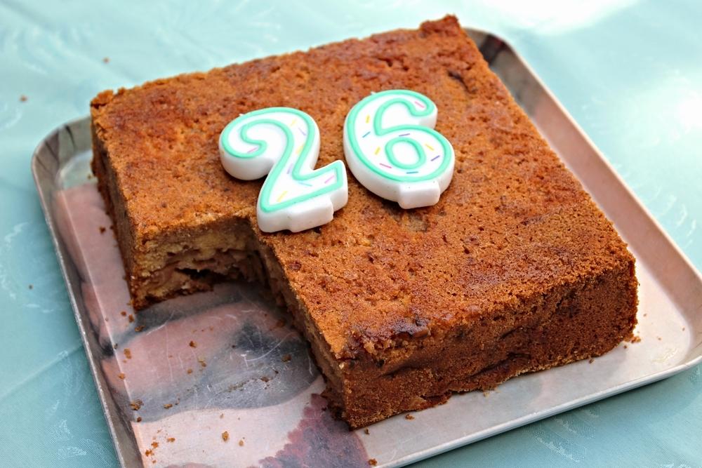 Mijn mama bakte deze cake het laatst anderhalve maand geleden op mijn... 26e verjaardag.