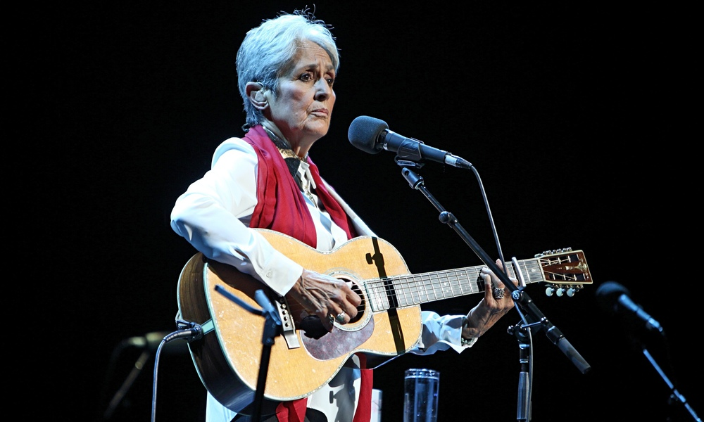 Joan Baez at the Royal Festival Hall in London on September 18th Photograph: Burak Cingi/Redferns via Getty Images