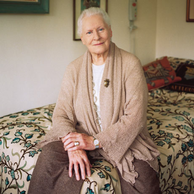 Diana Athill at the old People's Home where she has lived for several years. Photo by Sarah Lee for the Guardian