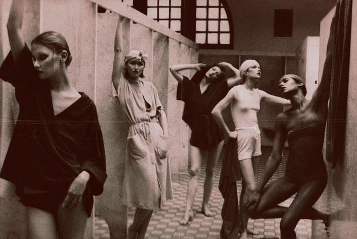 Photo from American Vogue, 1975 'The Bath House'