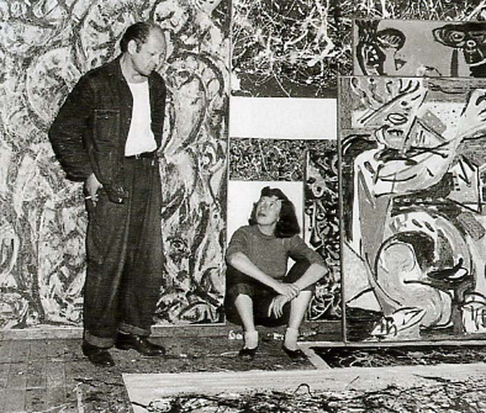 Pollock and Krasner 1949:  Photo Lawrence Larkin