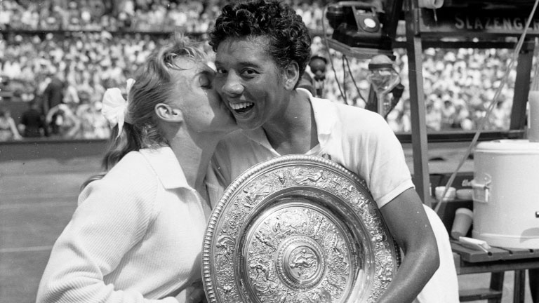 Althea Gibson wins Wimbledon