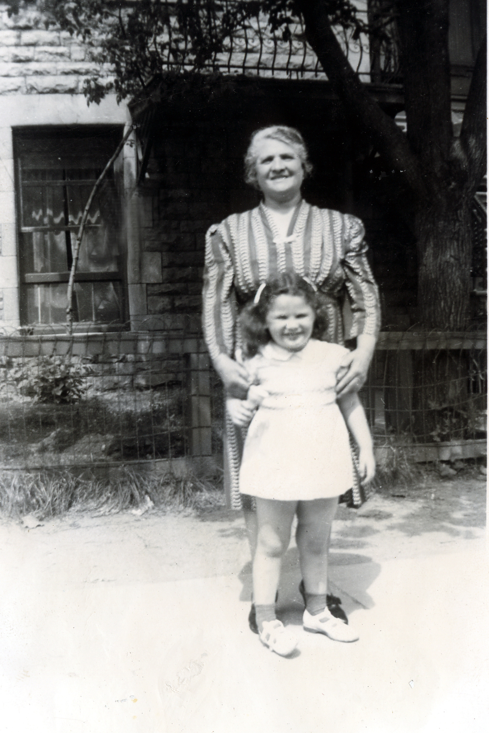 Grandma Fanny Solomon and me, 1942