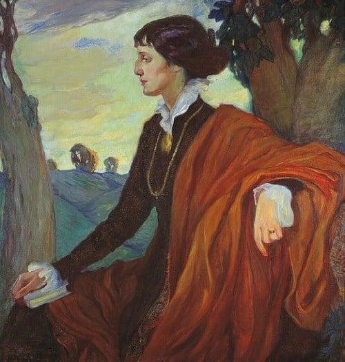 Portrait of Anna Akhmatova by Olga Della-Vos-Kardovskaya