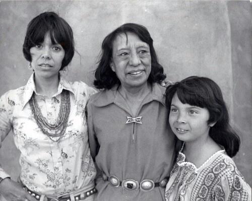 Pablita Velarde, her daughter Helen Hardin and her granddaughter Margarete Bagshaw.