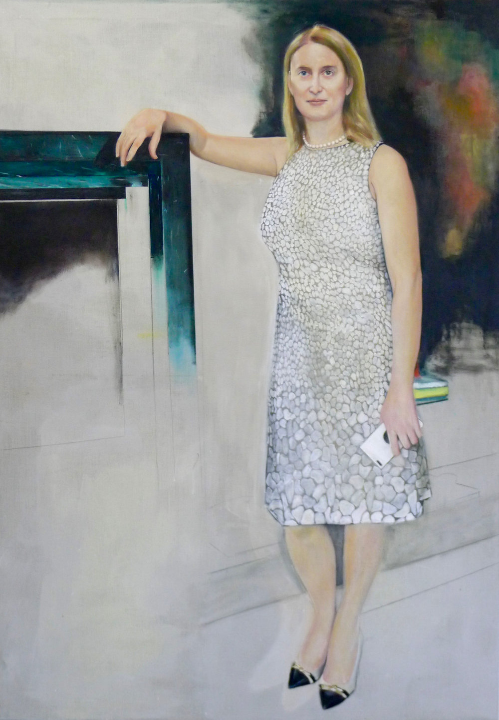 Ms Bea Knecht, oil on canvas, 200x140cm, 2018/19