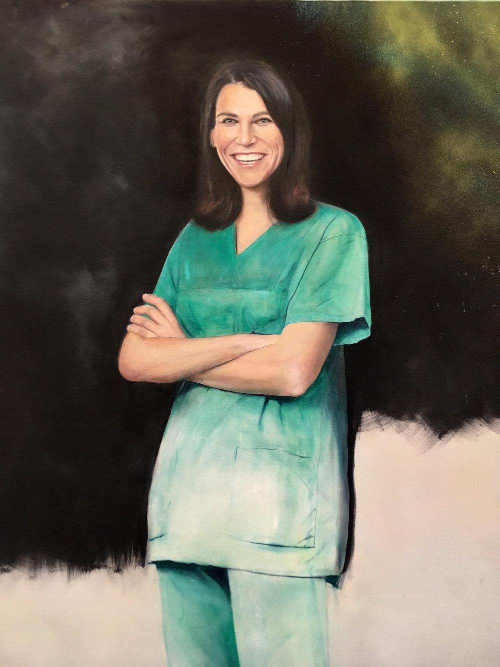 Ms M.K. oil on canvas, 200x140cm, 2018