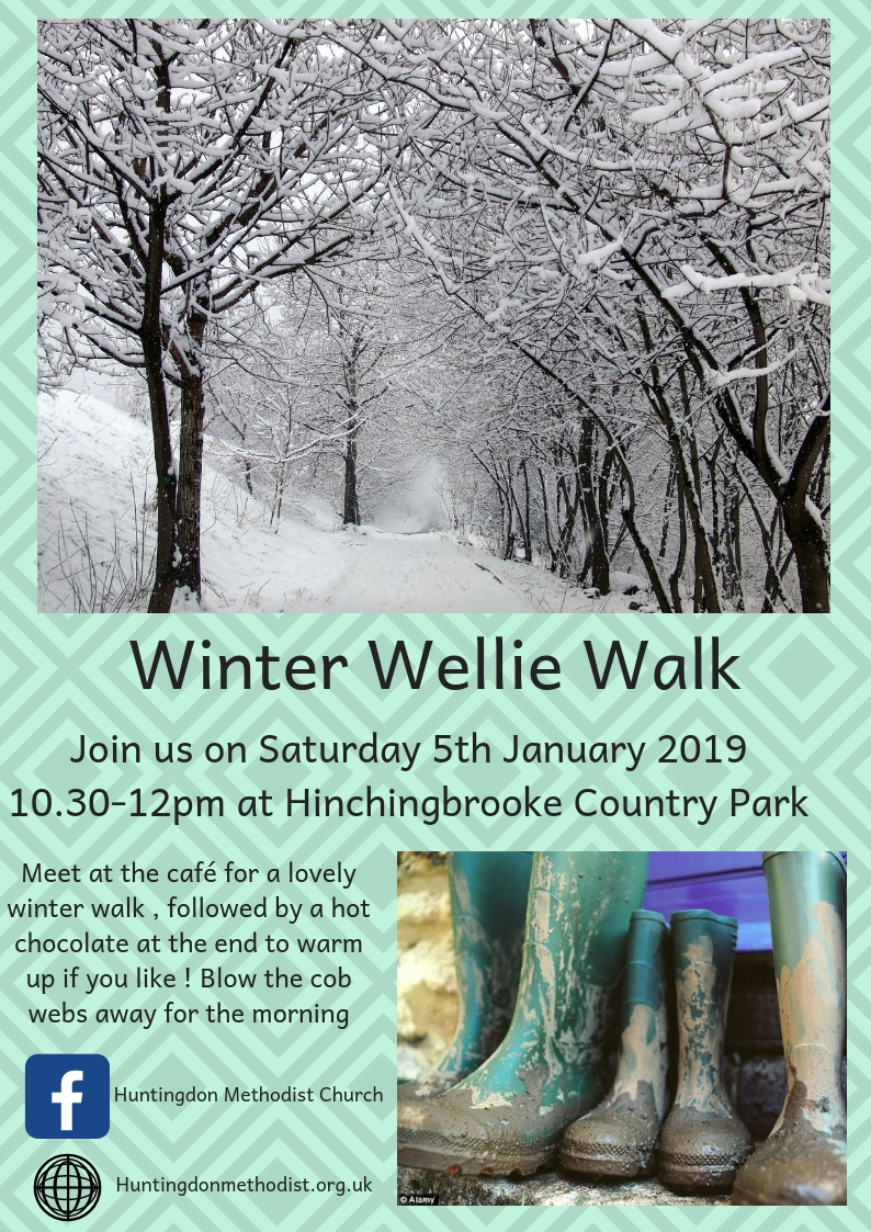 Winter Wellie Walk - Saturday 5th January 2019 10:30-12, starting at Hinchingbrooke Country Park cafe
