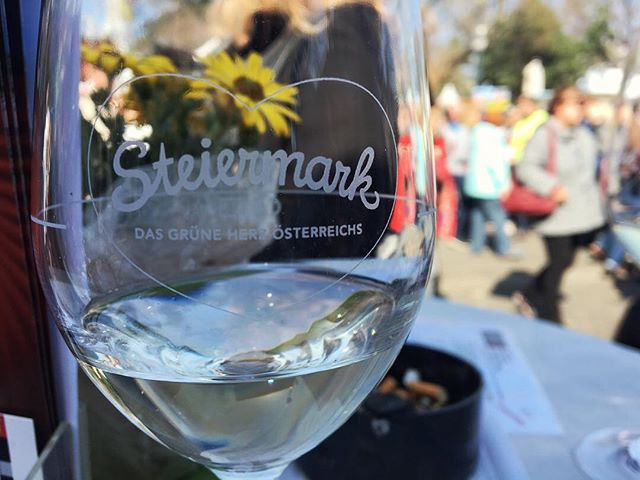 It doesn't get better than this. #steirmark fest at the #rathausplatz where I sampled viel wein from #sämling to #morillon to #schilcher. Yum!