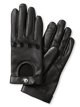 Black leather  moto gloves  from Banana Republic. I'm in. I'm so in.
