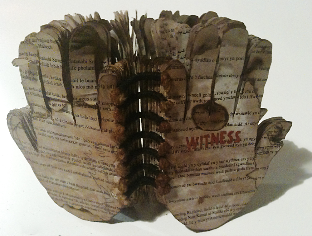 Witness   was created for the Al Mutanabi Artist Book Project. You can learn more about the exhibition   here  .