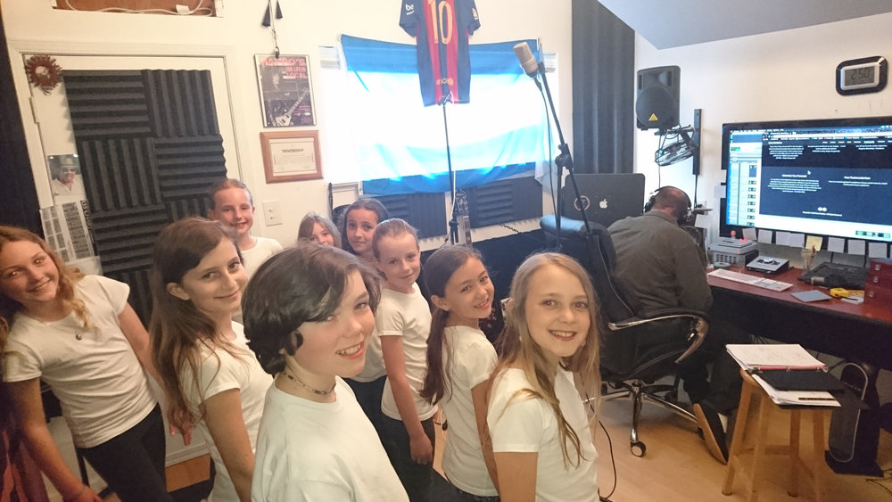 Bija Select Choir students recording day