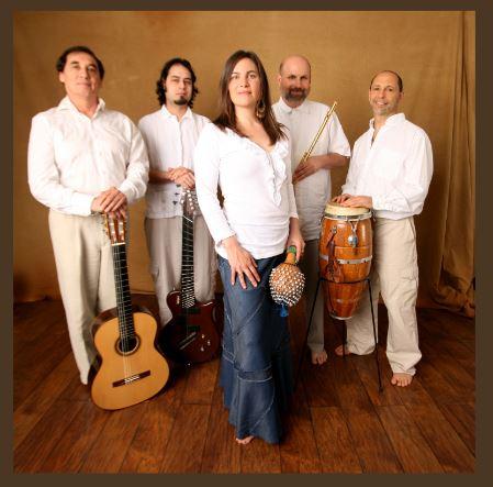 BLUE BRAZIL musicians  Pablo Rodriguez, Nate Lopez, Maria Ana (Jameau) Bija, Bob Afifi, Jacob Harris