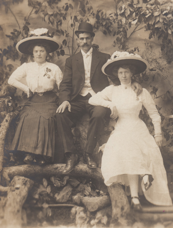 From right to left: Mrs. Bergstrom, Mr. Bergstrom and Mrs. Bergstrom's unknown sibling.