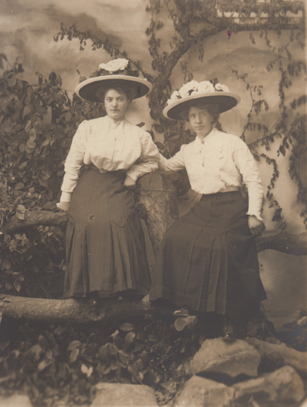 Mrs. Bergstrom (right) and unknown sibling.