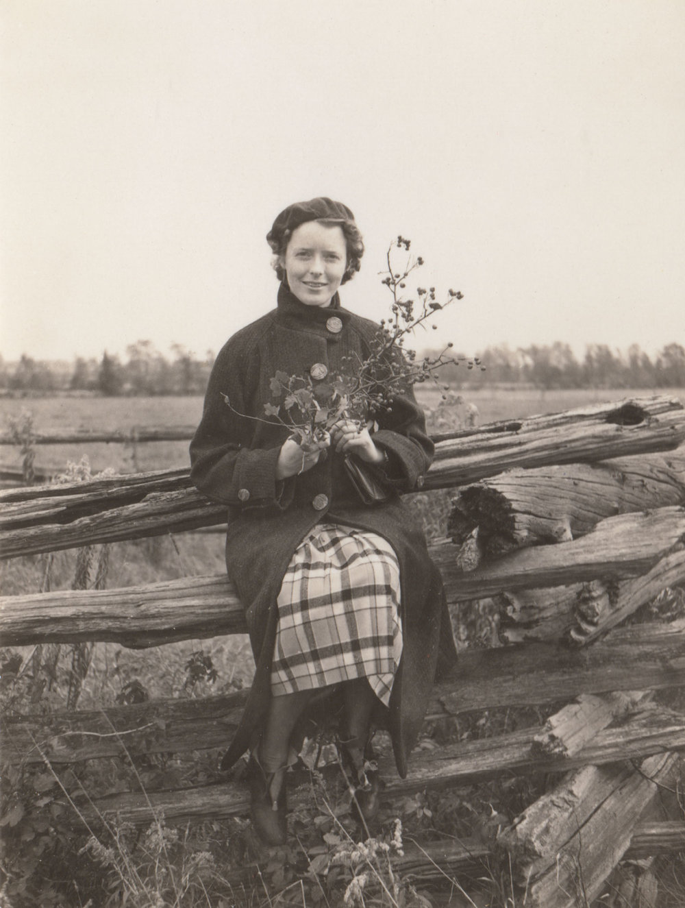Mary Elsie Pearson near Mill Creek, Snohomish County, WA. Photo by E.H. Pearson