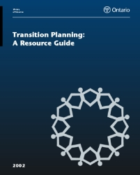 "Transition Planning: A Resource Guide (2002) ""This guide presents a range of suggestions from which educators may select ideas that would be useful in their particular local context."""