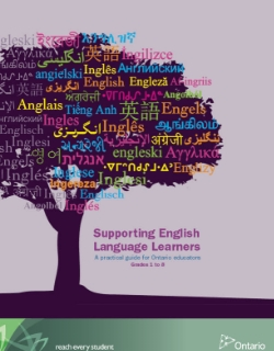 Supporting English Language Learners: A practical guide for Ontario educators Grades 1 to 8 This resource is one in a series written to assist classroom teachers in supporting a growing demographic within Ontario schools – English language learners. The goal is to help teachers understand the kinds of supports that English language learners require to learn the English and content of the classroom. The focus is on making learning visible and accessible for English language learners who face their own unique challenges but, more importantly, who present a rich resource in classrooms throughout the province.
