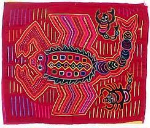 A typical Kuna Mola