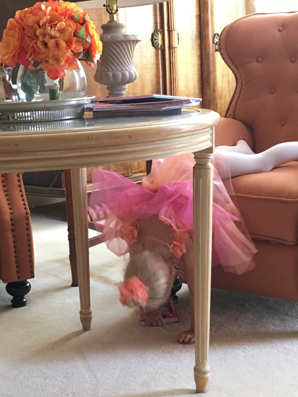 Oops, the book dropped! Can you guess her princess thoughts now?
