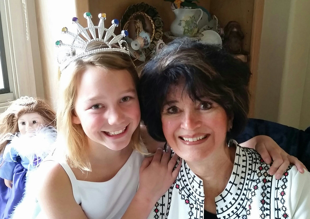 My youngest granddaughter, Megan and I