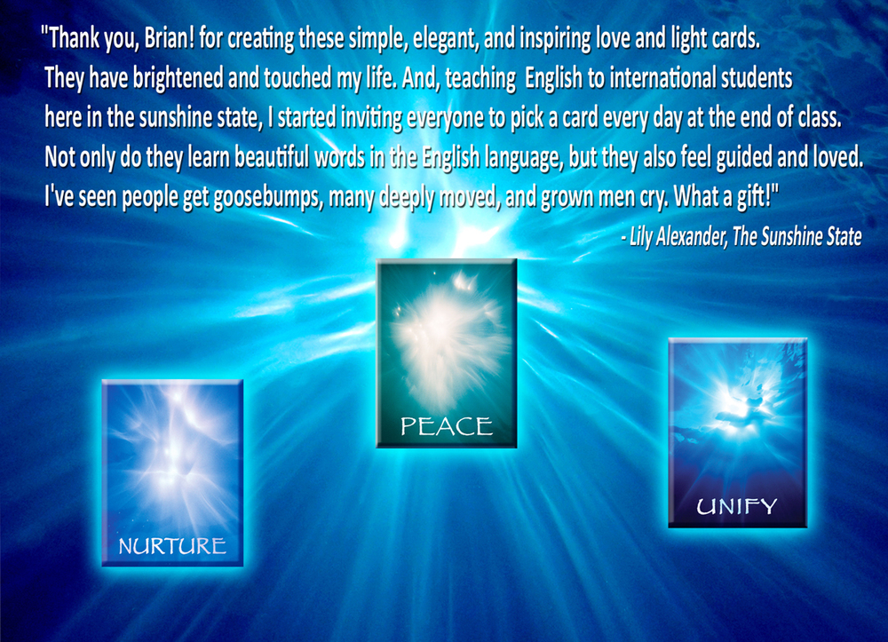 Lilly Alexandria Loves Oprah Winfrey as she pick and Ask the Light Miracle Card