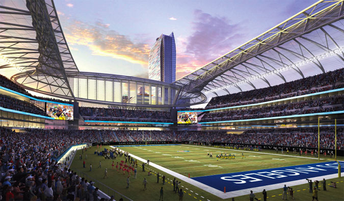 Inside view of the Los Angeles Stadium concept