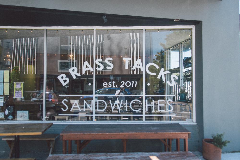 Brass Tacks front window