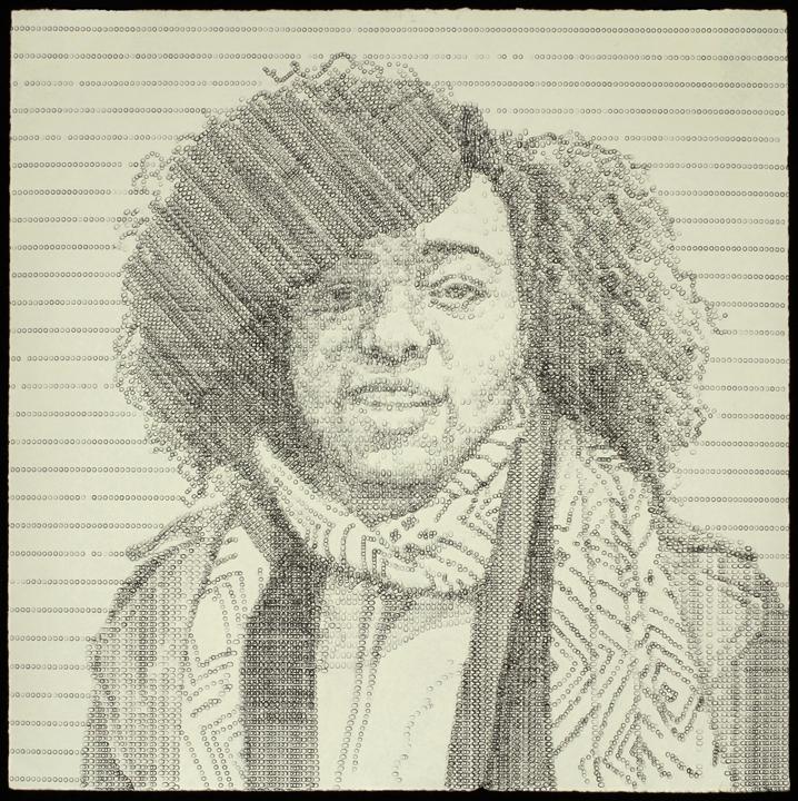 Ebony, typewritten portrait by Leslie Nichols