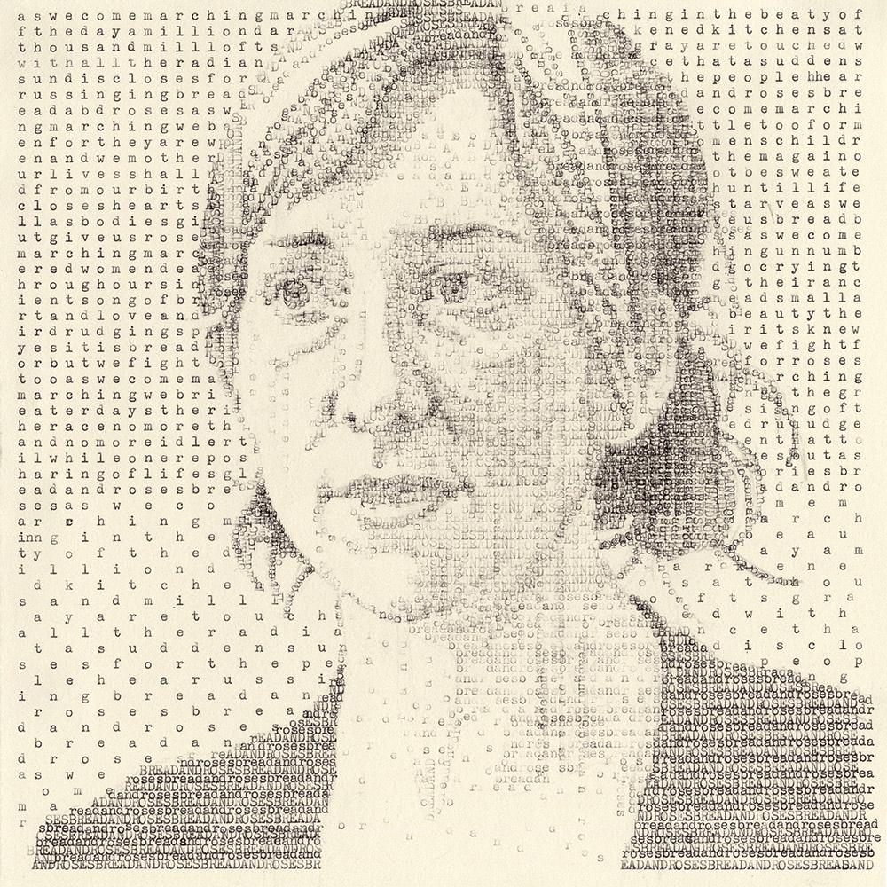 Megan (Oppenheim 1911)   Typewritten Ink on Paper, 9.5 x 9.5 inches  $700
