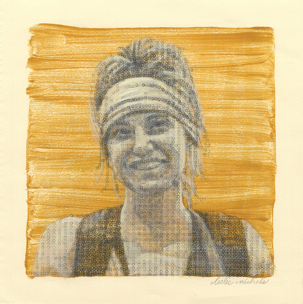 Megan  Typewritten Ink and Printed Acrylic on paper 7.25 x 7.25 inches, 2015 $400
